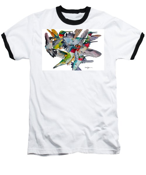 Da053 Multi-hummers By Daniel Adams Baseball T-Shirt