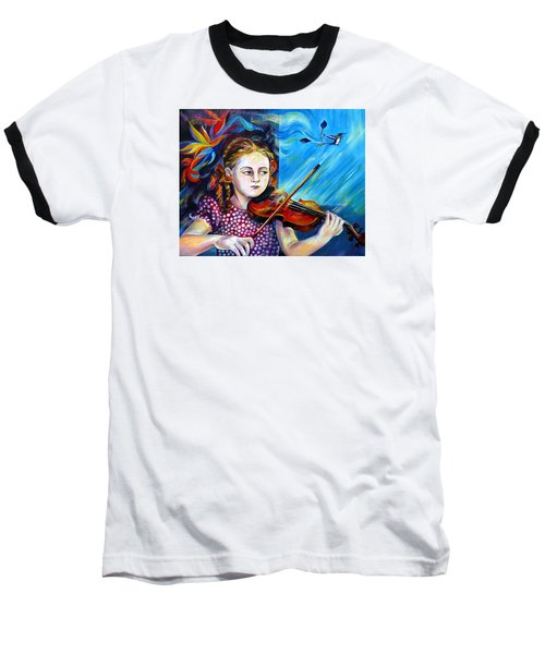 Music Lessons Baseball T-Shirt by Anna  Duyunova