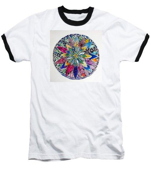 Spring Mandala Baseball T-Shirt