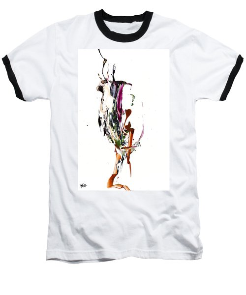 Baseball T-Shirt featuring the painting My Form Of Jazz Series - 10186.110709 by Kris Haas