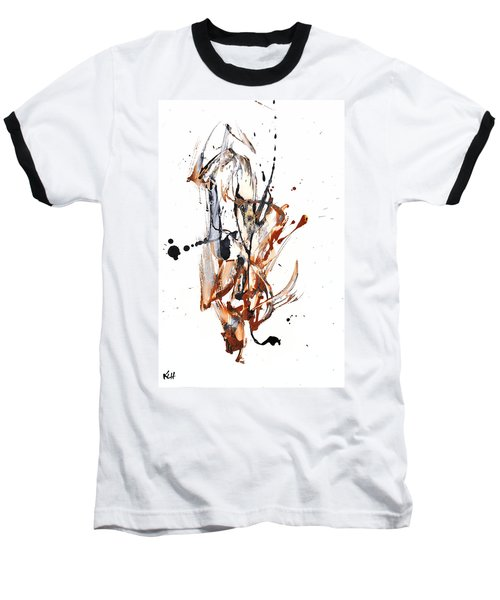 Baseball T-Shirt featuring the painting My Form Of Jazz Series - 10188.110709 by Kris Haas