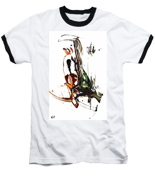 Baseball T-Shirt featuring the painting My Form Of Jazz Series - 10185.110709 by Kris Haas