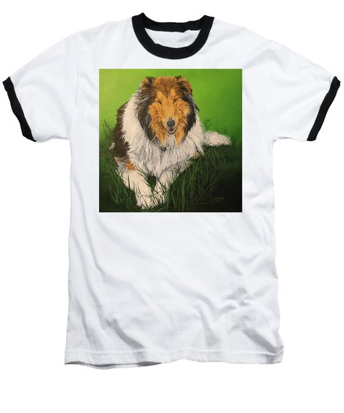 Baseball T-Shirt featuring the painting My Guardian  by Wendy Shoults