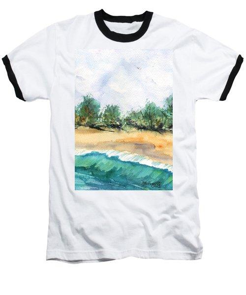 My Secret Beach Baseball T-Shirt by Marionette Taboniar