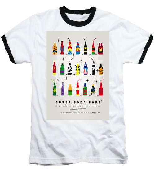 My Super Soda Pops No-00 Baseball T-Shirt by Chungkong Art