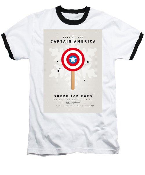 My Superhero Ice Pop - Captain America Baseball T-Shirt