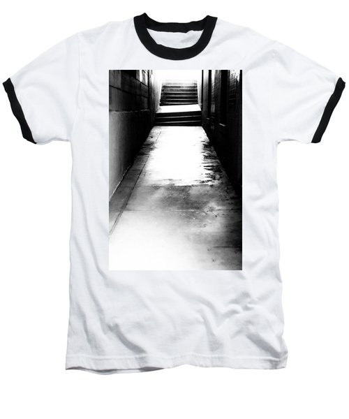 Mysterious Walkway Baseball T-Shirt by Shelby  Young