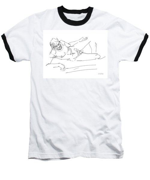 Naked-man-art-16 Baseball T-Shirt