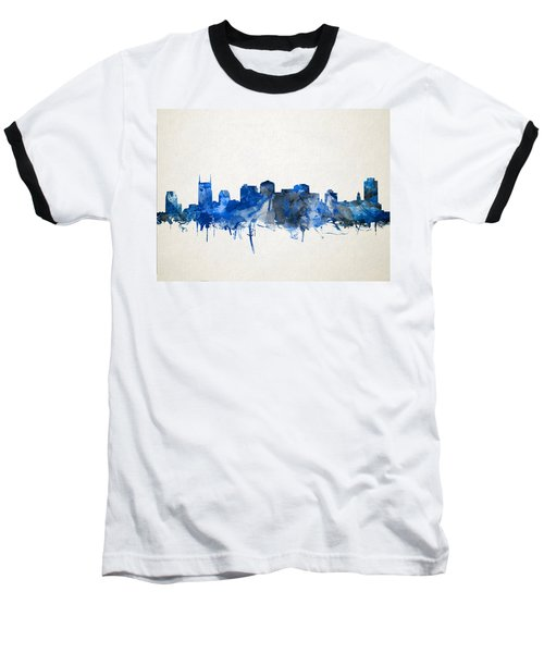 Nashville Skyline Watercolor 11 Baseball T-Shirt