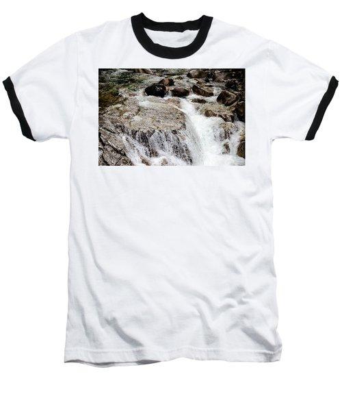 Backroad Waterfall Baseball T-Shirt