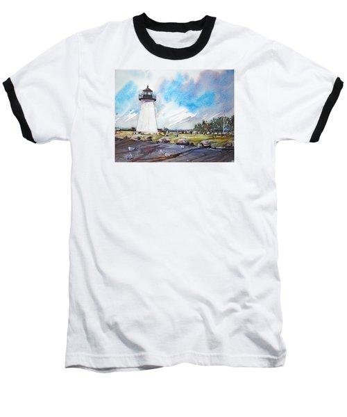 Ned's Point Light Baseball T-Shirt by P Anthony Visco