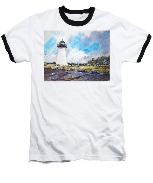 Ned's Point Light Baseball T-Shirt