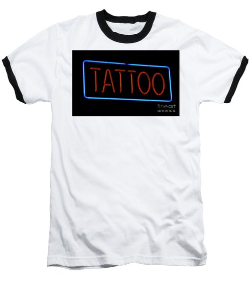 Neon Tattoo Sign Baseball T-Shirt
