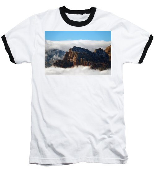 Nestled In The Clouds Baseball T-Shirt