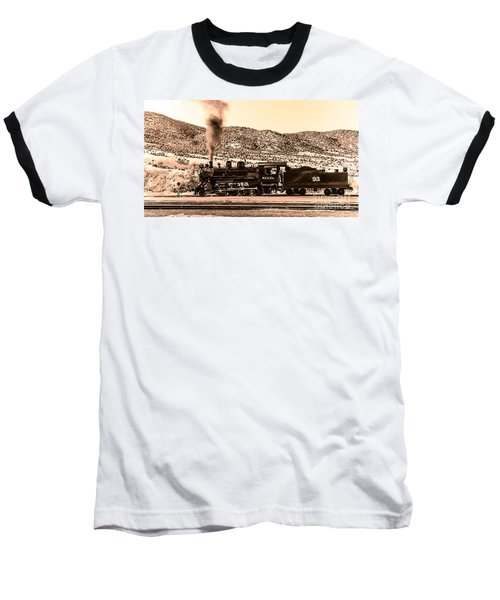 Nevada Northern Railway Baseball T-Shirt by Robert Bales