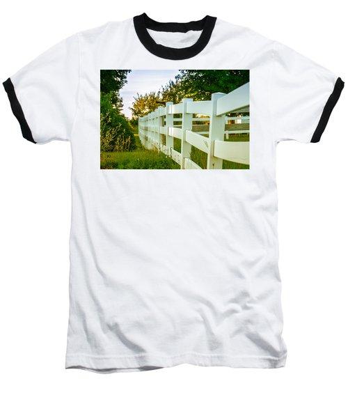 New England Fenceline Baseball T-Shirt by Brian Caldwell