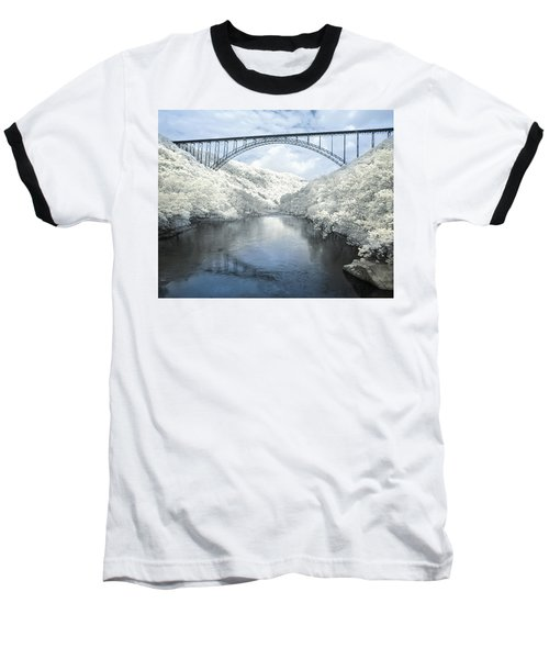 New River Gorge Bridge In Infrared Baseball T-Shirt