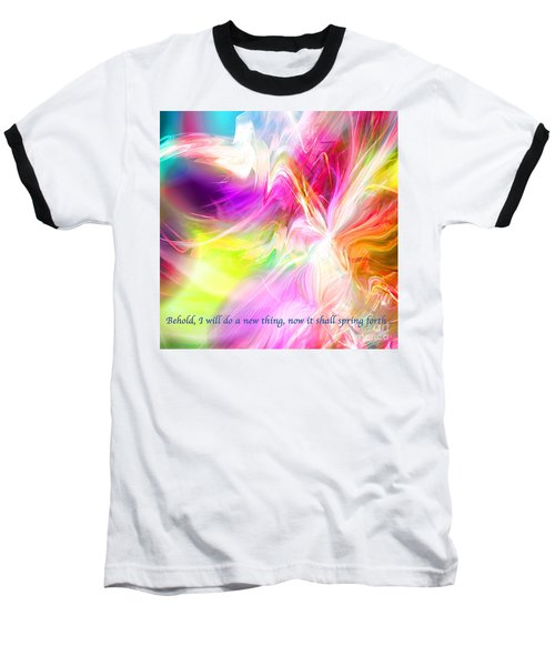 Baseball T-Shirt featuring the digital art New Thing by Margie Chapman