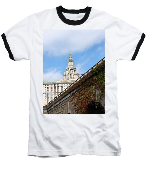 Baseball T-Shirt featuring the photograph New York City Hall by Kristin Elmquist