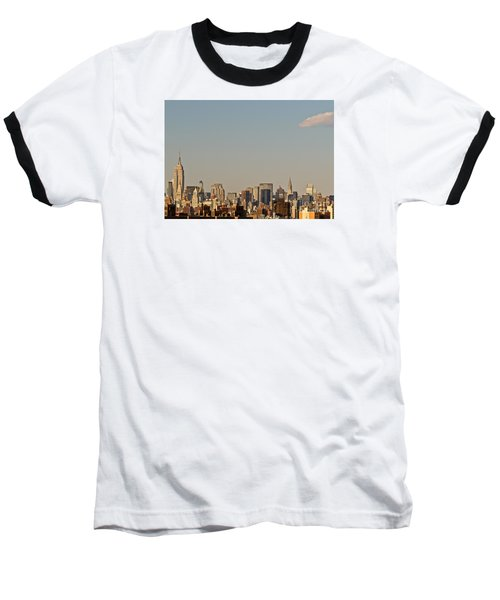 New York City Skyline Baseball T-Shirt by Kerri Farley