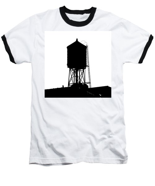 New York Water Tower 17 - Silhouette - Urban Icon Baseball T-Shirt