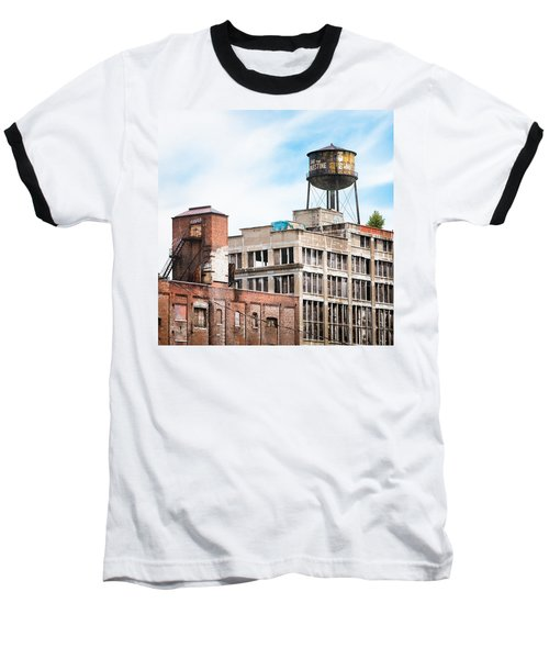 Baseball T-Shirt featuring the photograph New York Water Towers 18 - Greenpoint Water Tower by Gary Heller