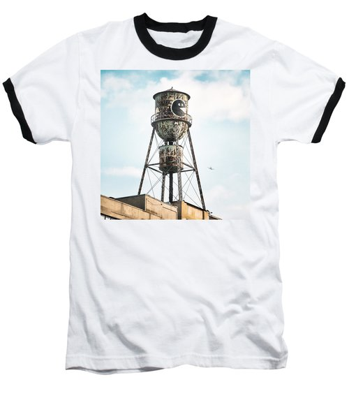 New York Water Towers 9 - Bed Stuy Brooklyn Baseball T-Shirt
