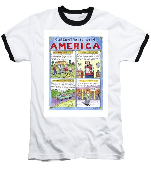 New Yorker January 16th, 1995 Baseball T-Shirt by Roz Chast