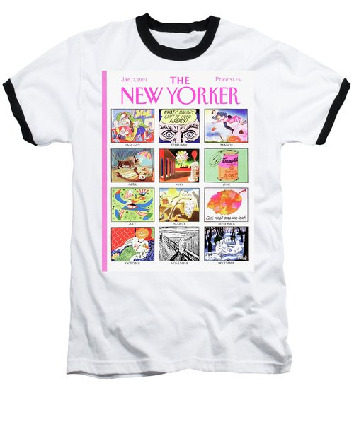 New Yorker January 7th, 1991 Baseball T-Shirt