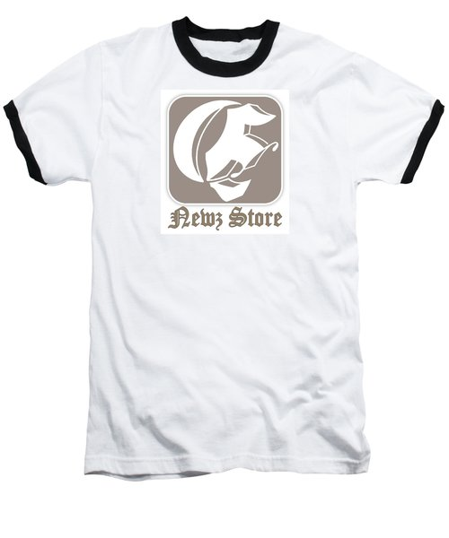 Baseball T-Shirt featuring the drawing Eclipse Newspaper Store Logo by Dawn Sperry