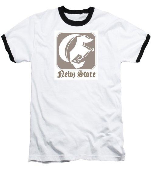 Eclipse Newspaper Store Logo Baseball T-Shirt by Dawn Sperry