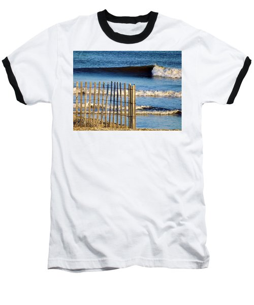 Nice Wave Baseball T-Shirt by John Wartman