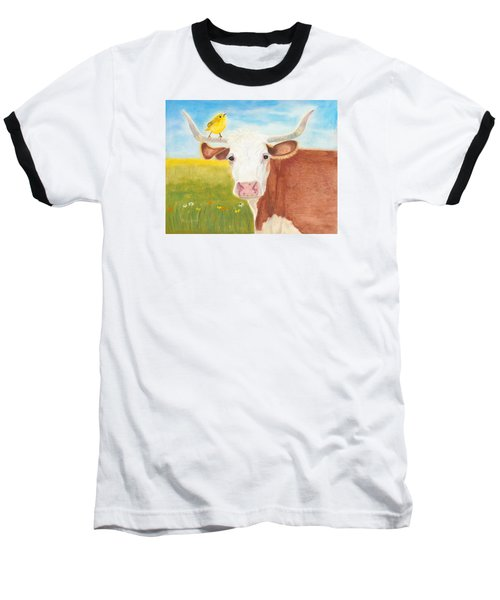 Baseball T-Shirt featuring the painting No Tree Necessary by Arlene Crafton
