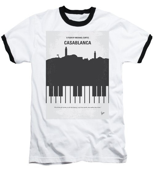 No192 My Casablanca Minimal Movie Poster Baseball T-Shirt
