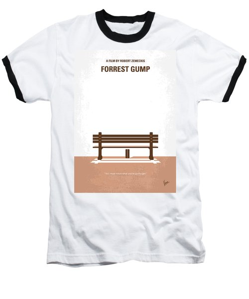 No193 My Forrest Gump Minimal Movie Poster Baseball T-Shirt