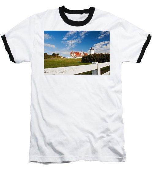 Nobska Point Lighthouse Baseball T-Shirt