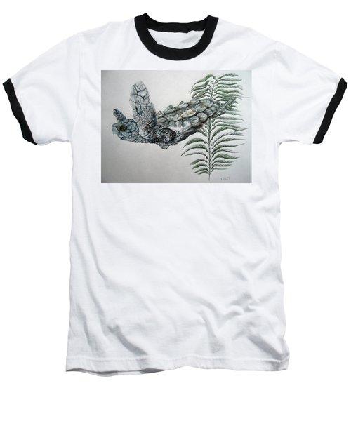 Baseball T-Shirt featuring the drawing Norman Blue by Mayhem Mediums