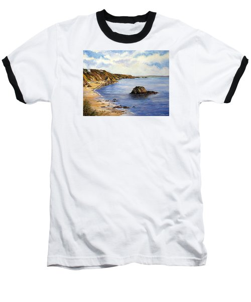 North Beach  Tenby Baseball T-Shirt
