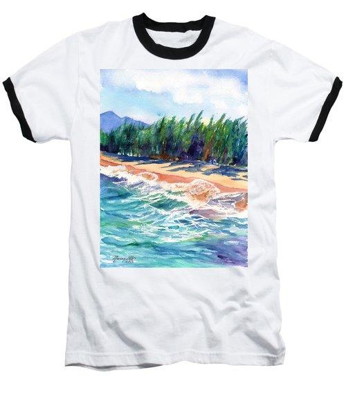 North Shore Beach 2 Baseball T-Shirt