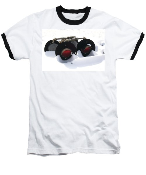 Baseball T-Shirt featuring the photograph Nothin But Lights by Sara  Raber