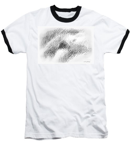 Nude Female Abstract Drawings 1 Baseball T-Shirt