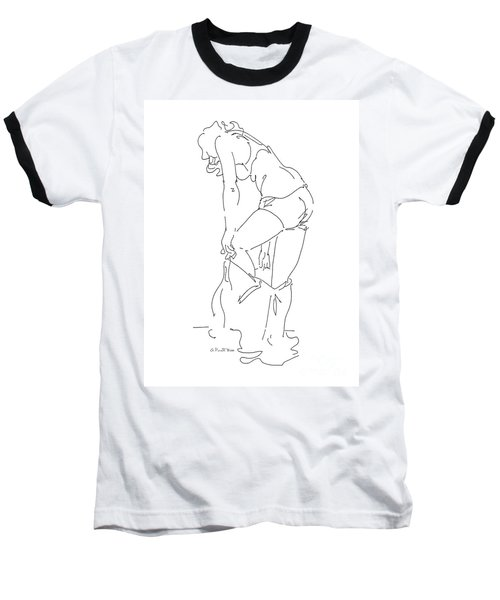 Nude Female Drawings 1 Baseball T-Shirt
