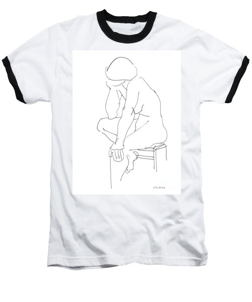 Nude Female Drawings 12 Baseball T-Shirt