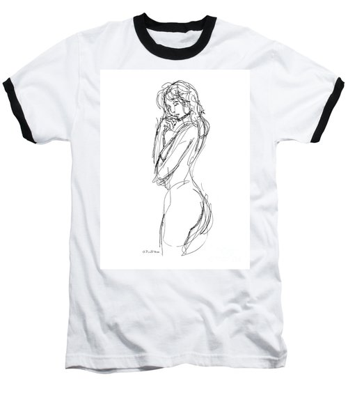 Nude Female Sketches 1 Baseball T-Shirt