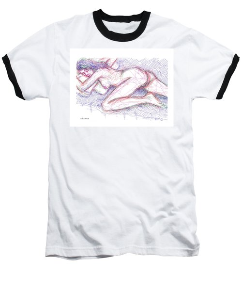 Nude Female Sketches 5 Baseball T-Shirt