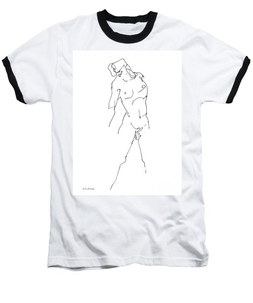 Nude-male-drawing-11 Baseball T-Shirt