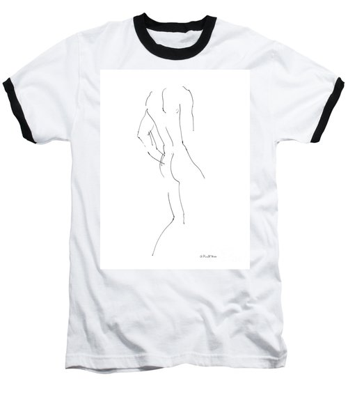 Nude Male Drawings 2 Baseball T-Shirt