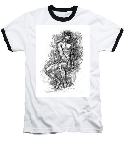 Nude Male Sketches 1 Baseball T-Shirt