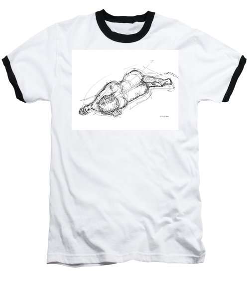 Nude Male Sketches 4 Baseball T-Shirt