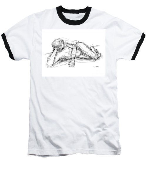 Nude Male Sketches 5 Baseball T-Shirt